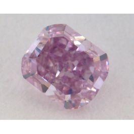 0.40 Carat, Natural Fancy Intense Pink-Purple, Radiant Shape, VS2 Clarity, GIA