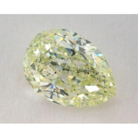 1.08 Carat, Natural Fancy Intense Yellowish Green, Pear Shape, SI2 Clarity, GIA