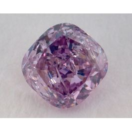 0.72 Carat, Natural Fancy Intense Pink-Purple, Radiant Shape, I1 Clarity, GIA