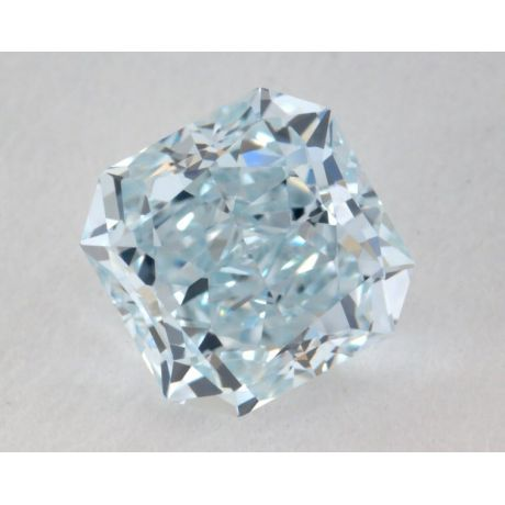 0.87 Carat, Natural Fancy Light Blue, Radiant Shape, IF Clarity, GIA