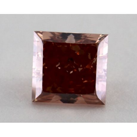 1.13 Carat, Natural Fancy Deep Brown-Pink, Square Shape, VS2 Clarity, GIA