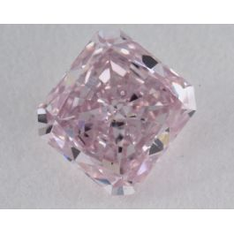 0.27 carat, Natural Fancy Pink, Radiant Shape, SI2 Clarity, GIA