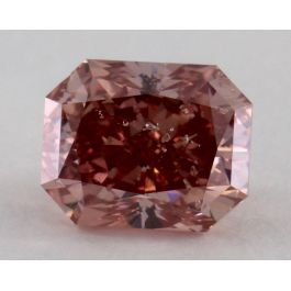 1.02 Carat, Natural Fancy Deep Pink, Radiant Shape, I1 Clarity, GIA