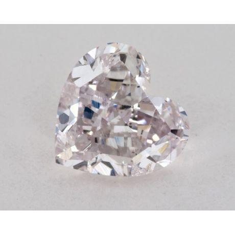0.75 carat, Natural Fancy Light Purplish Pink, Heart Shape, SI2 Clarity, GIA