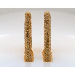 1.50 carat, Earrings with Fancy Vivid Yellow diamonds, VS-SI Clarity