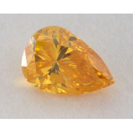0.10 Carat, Natural Fancy Vivid Orange-Yellow Diamond, I1 Clarity, Pear Shape, GIA