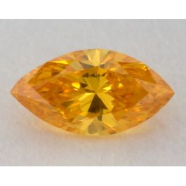 0.11 Carat, Natural Fancy Vivid Orange-Yellow Diamond, VS2 Clarity, Marquise Shape, GIA