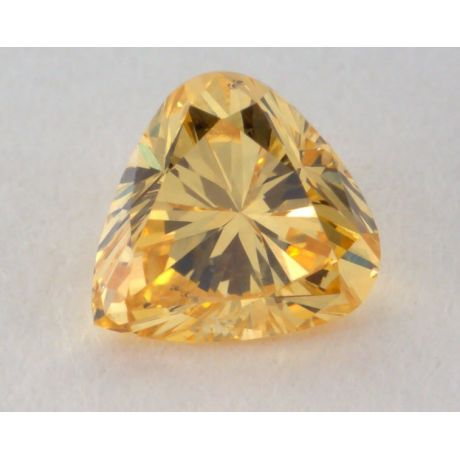 0.31 Carat, Natural Fancy Intense Orangy Yellow Diamond, I1 Clarity, Pear Shape, GIA