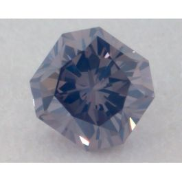 0.13 Carat, Natural Fancy Violet-Gray Diamond, VS1 Clarity, Radiant Shape, GIA
