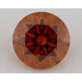 0.41 carat, Natural Fancy Deep Yellowish Orange, Round Shape, SI2 Clarity, GIA