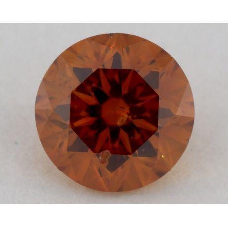 0.41 carat, Natural Fancy Deep Yellowish Orange, Round Shape, SI2 Clarity, GIA