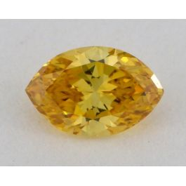 0.24 carat, Natural Fancy Deep Orange, Marquise Shape, VS2 Clarity, GIA