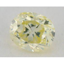 0.23 carat, Natural Fancy Light Greenish Yellow, Oval Shape, VS2 Clarity, IGI