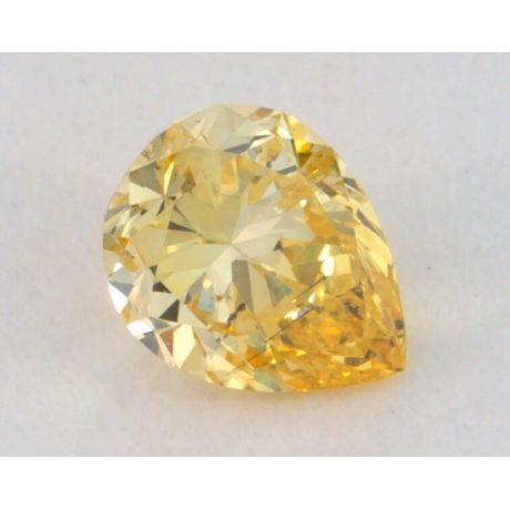 0.34 carat, Natural Fancy Yellow, Pear Shape, SI2, IGI
