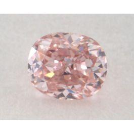 0.15 Carat, Natural Fancy Pink, VS1 Clarity, Oval Shape, IGI