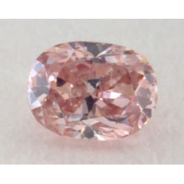 0.13 Carat, Natural Fancy Intense Brownish Pink Diamond, SI1 Clarity, Oval Shape, IGI