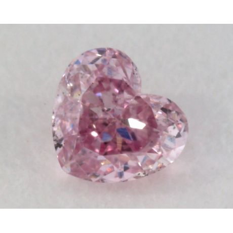 0.12 Carat, Natural Fancy Intense Purple Diamond, SI1 Clarity, Heart Shape, IGI