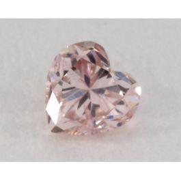 0.12 Carat, Natural Fancy Brownish Pink Diamond, I1 Clarity, Heart Shape, IGI