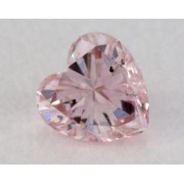 0.10 Carat, Natural Fancy Pink Diamond, I1 Clarity, Heart Shape, IGI