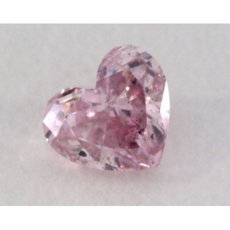 0.14 Carat, Natural Fancy Intense Purple Diamond, SI1 Clarity, Heart Shape, IGI
