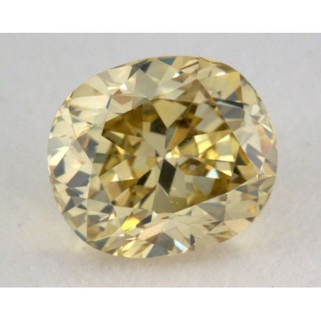 0.25 Carat, Natural Fancy Brownish Greenish Yellow Diamond, SI1 Clarity, Oval Shape, GIA