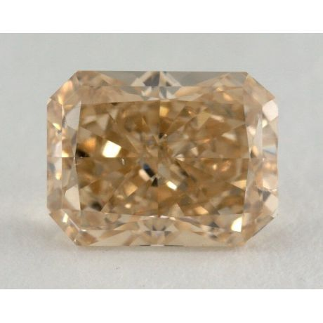1.68 Carat, Natural Fancy Brownish Orangy Yellow, Radiant Shape, I1 Clarity, GIA