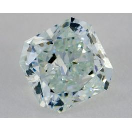 1.71 Carat, Natural Fancy Light Bluish Green Diamond, IF Clarity, Radiant Shape, GIA