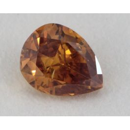 0.28 Carat, 0.28 Carat, Natual Fancy Deep Brown-Orange, I1 Clarity, Pear Shape, GIA
