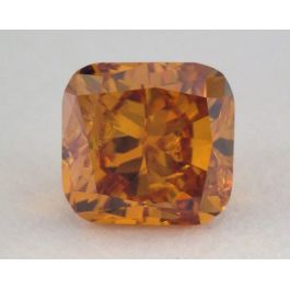0.21 Carat, Natural Fancy Deep Brownish Yellowish Orange, Cushion Shape, SI1 Clarity, GIA