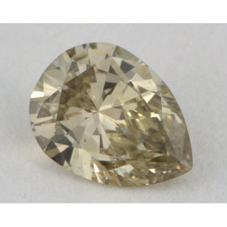 0.29 Carat, Natural Fancy Brownish Greenish Yellow, Pear Shape, SI2 Clarity, GIA