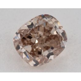 0.57 Carat, Natural Fancy Pink-Brown, Cushion Shape, SI1 Clarity, GIA