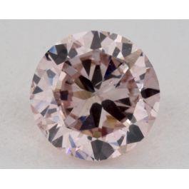 0.47 Carat, Natural Fancy Purplish Pink, Round, SI2 Clarity, GIA