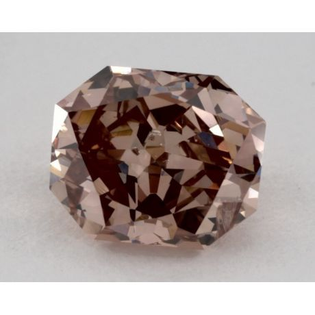 1.00 Carat, Natural Fancy Deep Pink-Brown, Radiant Shape, I1 Clarity, GIA