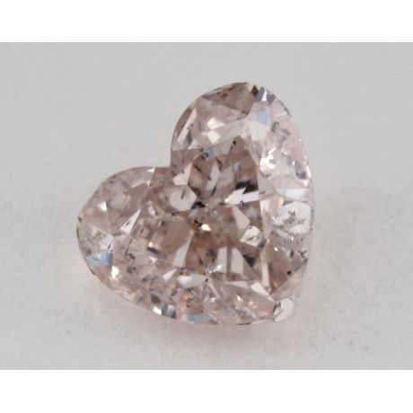 0.53 Carat, Natural Fancy Brownish Pink, Heart Shape, I1 Clarity, GIA