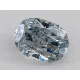 0.62 carat, Natural Fancy Grayish Blue, Oval, SI2 clarity, GIA
