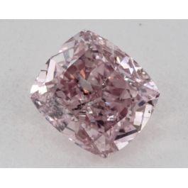 0.51 Carat, Natural Fancy Intense Purplish Pink, Radiant Shape, I1 Clarity, GIA