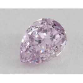 0.56 Carat, Natural Fancy Intense Pinkish Purple, Pear Shape, VS1 Clarity, GIA