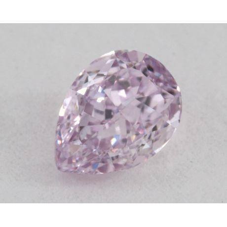 0.56 Carat, Natural Fancy Intense Pinkish Purple, Pear Shape, VS1 Clarity, GIA