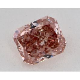 0.69 Carat, Natural Fancy Orangy Pink, Radiant Shape, SI1 Clarity, GIA
