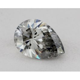 0.44 Carat, Natural Fancy Light-Gray Blue, Pear Shape, I1 Clarity, GIA
