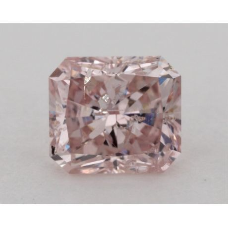 0.86 Carat, Natural Fancy Pink, Radiant Shape, I1 Clarity, GIA