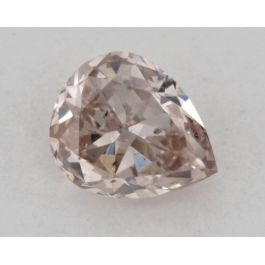 0.34 Carat, Natural Fancy Brownish Pink, Pear Shape, SI2 Clarity, GIA