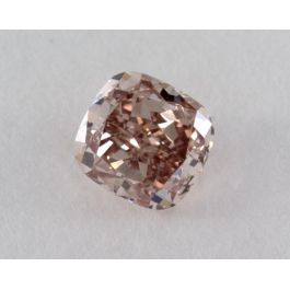 0.59 Carat, Natural Fancy Orangy Pink, Cushion Shape, VS1 Clarity, GIA