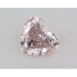 0.63 Carat, Natural Fancy Pink, Heart Shape, I1 Clarity, GIA