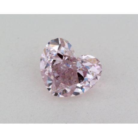 0.61 Carat, Natural Fancy Purple-Pink, Heart Shape, I1 Clarity, GIA