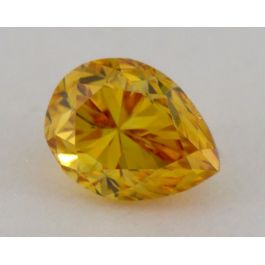 0.31 Carat, Natural Fancy Deep Orange, Pear Shape, VS1 Clarity, IGI