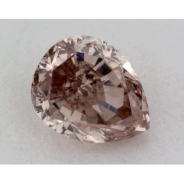 0.45 Carat, Natural Fancy Intense Brownish Pink, Pear Shape, SI1 Clarity, IGI