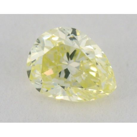 0.18 Carat, Natural Fancy Light Greenish Yellow, Pear Shape, VS2 Clarity, IGI