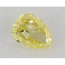 0.22 Carat, Natural Fancy Intense Greenish Yellow, Pear Shape SI1 Clarity, IGI