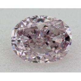 0.16 Carat, Natural Fancy Puple Pink, Oval Shape, VS2 Clarity, IGI